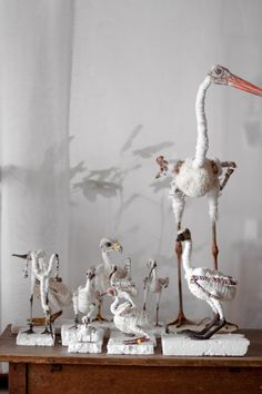 avifauna birds made for Italian textile producer Rubelli by studio Maarten Kolk & Guus Kusters