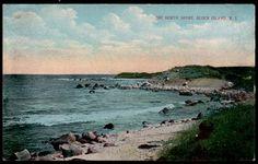 Block Island Postcard North Shore Cliff Rhode Island RI