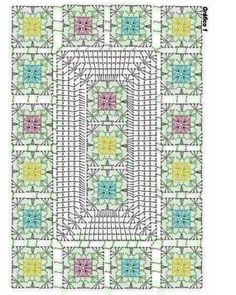 Crochet flower very easy tutorial – ArtofitBeautiful granny square with pCrochet chart for two granny sThis Pin was discovered by DunGranny and other stitches Crochet Table Runner Pattern, Crochet Motif Patterns, Crochet Tablecloth, Crochet Diagram, Crochet Chart, Crochet Squares, Plaid Crochet, Pixel Crochet, Thread Crochet
