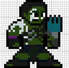 Gladiator Hulk Thor Ragnarok Perler Bead Pattern