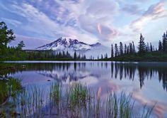 Mt Rainier over Bench Lake (I think) in Washington