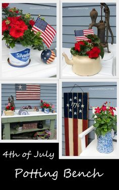 Adding Red White and Blue to the Potting Bench.