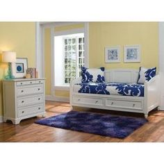 Naples Storage Daybed and Chest in White | Nebraska Furniture Mart