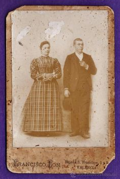 fotografia - ++¿la reconoce?++ - pareja epoca - fot. fco. lon / valencia - sin + datos - años 10 - Foto 1