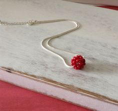 Simplistic Red Necklace on Etsy, $12.00
