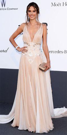 Alessandra Ambrosio in Zuhair Murad - Cannes Film Festival Party Fashion Photos: amfAR Cinema Against AIDS Gala