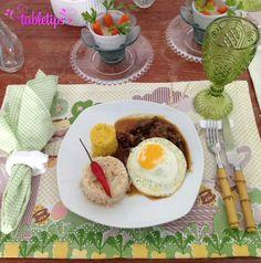 TBTable: almoço e jantar de Páscoa [http://www.tabletips.com.br] tbtable 2  tbtable picadinho Astor Páscoa ovo de Páscoa mesa temática Jantar coelhinho baby carrots almoço