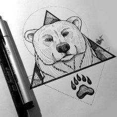 bear . tattoo sketch