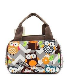 19.78$  Watch here - http://viunx.justgood.pw/vig/item.php?t=kjij0im5325 - N. Gil Women and Children's Insulated Lunch Bag (Owl Grey/Brown) ? 19.78$