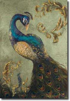 Peacock on Sage II - Hakimipour, Tiffany