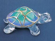 """Tiffany"" Glass Turtle"