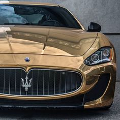 Gold Maserati GT  Follow @Maserati_Motorsports  Follow @Maserati_Motorsports  #  Freshly Uploaded To www.MadWhips.com  Photo by @dalo_carspotting