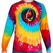 Classic tie dye, long-sleeve tee featuring Steal your State design front and center and the Mexicali logo on the back. This shirt is an awesome take on the classic Dead logo, and you will find it nowhere else! The Maine Steal Your State T is an officially licensed Grateful Dead product, and is available only at mexicaliblues.com and in Mexicali Blues stores. Printed on a high-quality, 100% organic cotton, preshrunk, unisex t-shirt. $26.00 - $28.00
