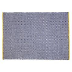 LUCAS Medium blue flat weave rug 140 x 200cm