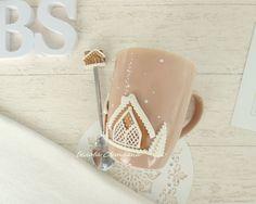 Купить Кружка ложка Пряничный городок в интернет магазине на Ярмарке Мастеров