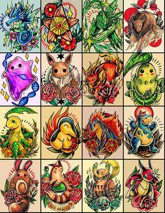 Pokemon Tattoo Designs on Behance