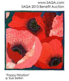 Art quilt by Sue Siefkin #GoRedForWomen #SAQA #artquilts