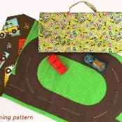 Toy Car Track and Tote - via @Craftsy
