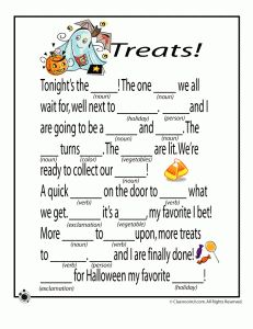 Free Halloween mad libs to print - great for classroom Halloween activities, Halloween parties, or just plain Halloween fun! Halloween Class Party, Halloween Games, Halloween Activities, Holiday Activities, Holidays Halloween, Halloween Crafts, Writing Activities, Halloween Stories For Kids, Speech Activities