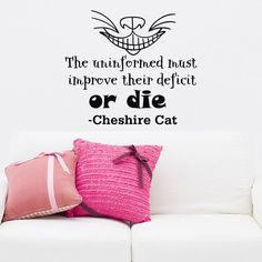 Wall Decals Alice in Wonderland Cheshire Cat Quote от WisdomDecals