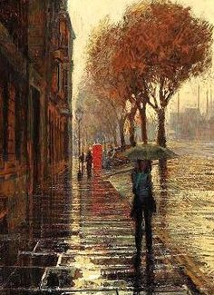 """""""St Giles in the Rain"""" by Francis Hamel"""