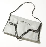 High Style Convertible Bag - love this how this chains give this satchel/shoulder bag/clutch an edgy look and feel