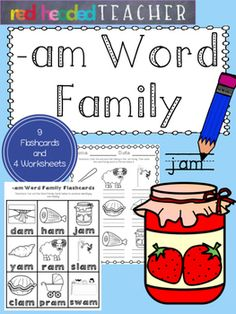 This packet is 5 pages for the -am Word Family;*Flashcards for students to take home, color, and practice reading*Beginning sounds*Alphabetical Order*Word Family Identification (cut and paste)*Word Family Identification (coloring)