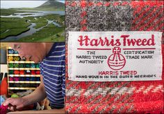 """Harris Tweed has been described as """"the Champagne of fabrics"""" and is the only fabric in the world governed by its own Act of Parliament. Genuine Harris Tweed must be made from pure virgin wool. This wool is both dyed and spun on the Hebridean Islands, before being hand woven at the home of the weaver."""
