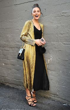 Eye-catching: On Wednesday, Olivia Culpo was seen strolling through an alleyway in Los Ang...