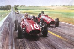 1953 French GP Mike Hawthorn and Fangio