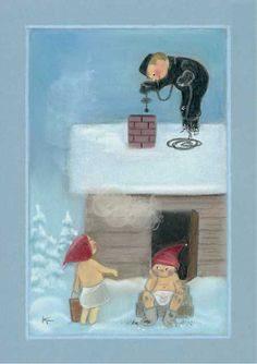 special noel - Page 3 Art And Illustration, Illustrations, Christmas Time Is Here, Xmas Cards, Gnomes, Finland, Scandinavian, Glass Art, Christmas Crafts