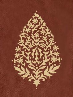 Wall Stencil Sari Paisley size MED - Easy craft stencils for walls, fabric and furniture. $16.95, via Etsy.