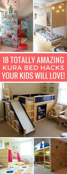 Wow - I never knew you could make a Kura bed look so awesome! These hacks are brilliant!