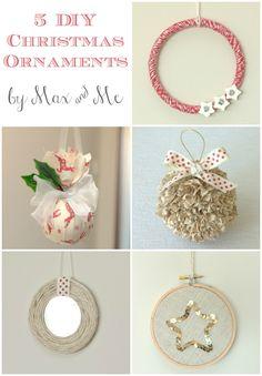 Max & Me: 5 DIY Christmas Ornaments