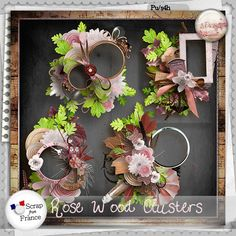 Rose wood Clusters by S.Designs