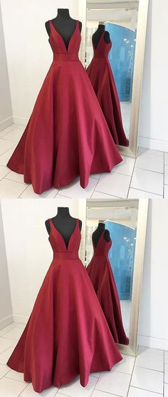 I love the color burgundy. This would be a beautiful prom dress! #longpromdresses