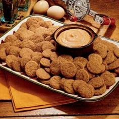 Spice Cookies with Pumpkin Dip.  Great for a crowd...makes a lot of cookies and they're really tasty..