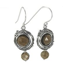 Silver Earrings with Smokyquartz - catalog