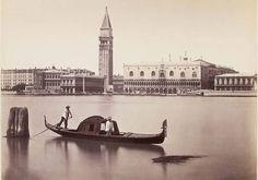 Carlo Naya, The Doges Palace and the Campanile, c. 1875 il sindaco di Venezia guardi questa foto,e gentile dottor Brugnaro cerchiamo di imitare*silva*
