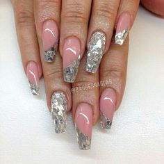 Shattered glass nail art idea and inspiration