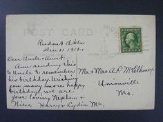Readout Oklahoma OK Harper County 1910 4-Bar Cancel DPO 1902-1913 RPPC Postcard