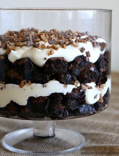 Gluten-free Brownie Pudding Toffee Trifle - My Gluten-free Kitchen Gluten Free Gifts, Gluten Free Sweets, Gluten Free Chocolate, Gluten Free Baking, Gluten Free Recipes, Easy Recipes, Paleo Dessert, Healthy Dessert Recipes, Potluck Recipes