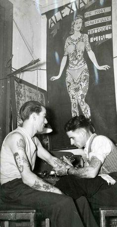 Resgate de imagens históricas da tatuagem.