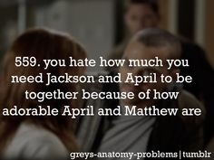 but true life, April and Jackson are going to be together, done, i've come to that conclusion