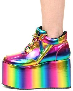 qozmo matrix gold shoe  shopjeen.com Designer High Heels, Designer Shoes,  Rainbow 1b5ae50348