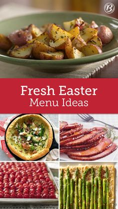 Tempt everyone's taste buds this Easter with a meal that looks to the season for fresh flavors. Let fruit and spring veggies shine with simple preparations and a no-fuss presentation!
