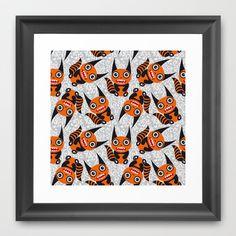 Funny orange monster Framed Art Print by EkaterinaP - $40.00