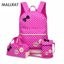 New waterproof Girl School Bags For Teenagers backpack women Three piece  suit shoulder bags 3 Pcs Set rucksack mochila knapsack 73577053798bd