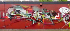 Part of a wall with BIMS-KAK-BONZAI-SMUG. A huge inspiration to me and many others. Graffiti Painting, Graffiti Wall, Samurai Art, Wild Style, Concrete Jungle, Blue Abstract, Street Art, Paradise, Neon Signs