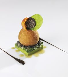 sphere on square Chefs, Modernist Cuisine, Molecular Gastronomy, Culinary Arts, Creative Food, Food Design, Food Presentation, Food Plating, Gourmet Recipes